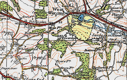 Old map of Towerage in 1919