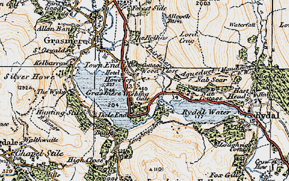 Old map of White Moss Common in 1925