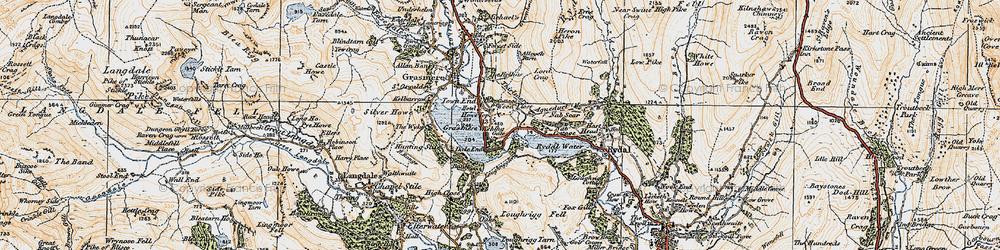 Old map of Alcock Tarn in 1925
