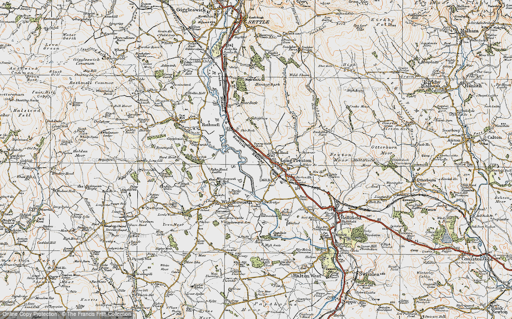 Old Map of Historic Map covering Tommy Hall's Barn in 1924