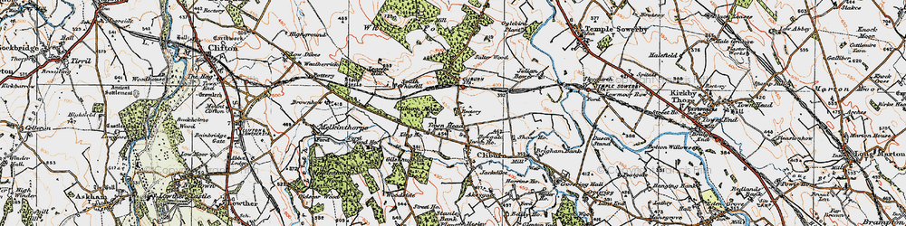 Old map of Whinfell Forest in 1925