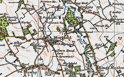 Old map of Winter Ho in 1925
