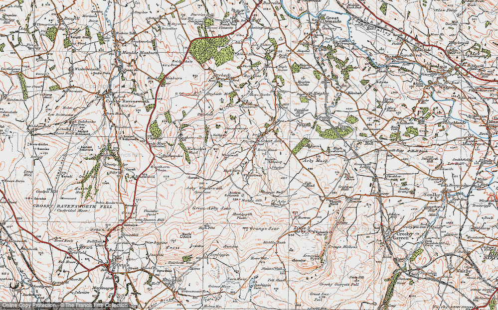 Old Map of Historic Map covering Asby Winderwath Common in 1925