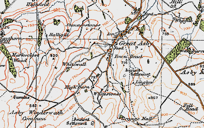 Old map of Asby Winderwath Common in 1925