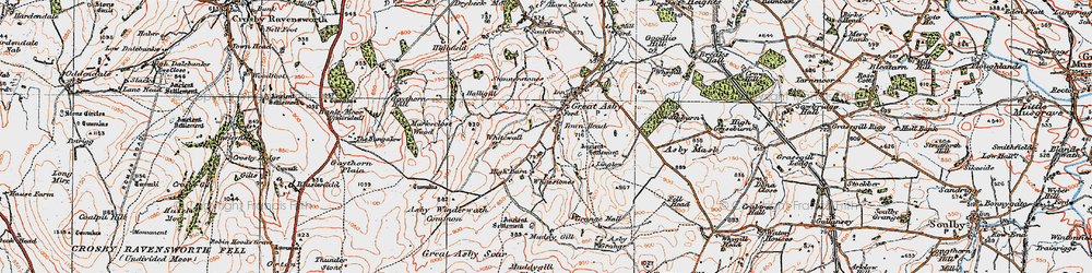 Old map of Whitewall in 1925