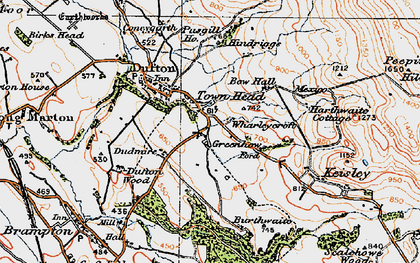 Old map of Wharleycroft in 1925