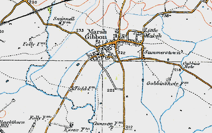 Old map of Town's End in 1919