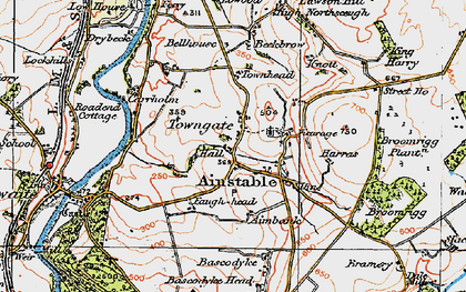Old map of Aimbank in 1925