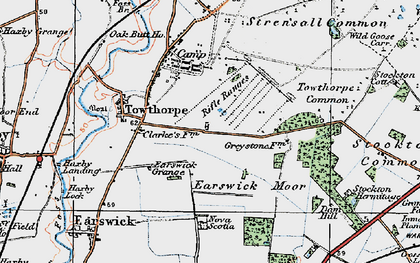 Old map of Wild Goose Carr in 1924