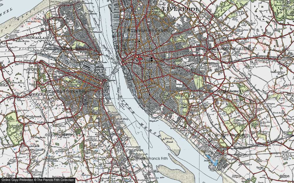 Old Map of Historic Map covering Albert Dock in 1923