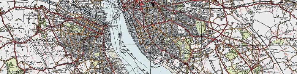 Old map of Albert Dock in 1923