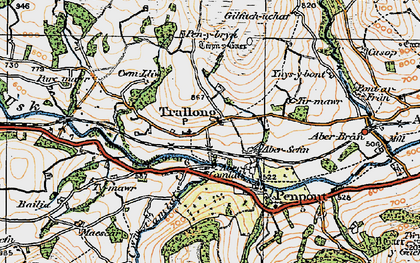 Old map of Abercamlais in 1923