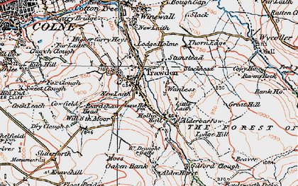 Old map of Trawden in 1925