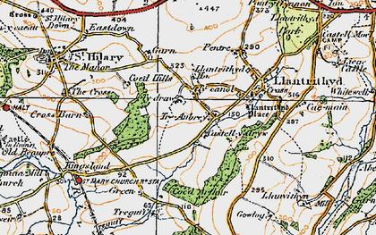Old map of Wren's Castle in 1922