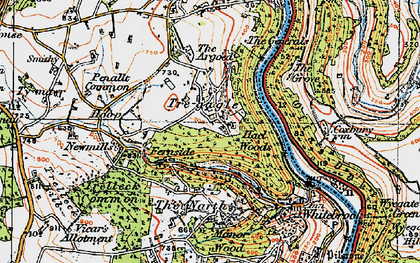 Old map of Argoed, The in 1919