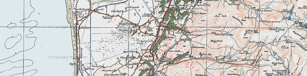 Old map of Tre Taliesin in 1922