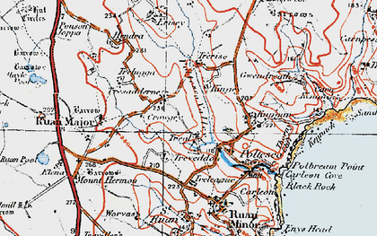Old map of Treal in 1919
