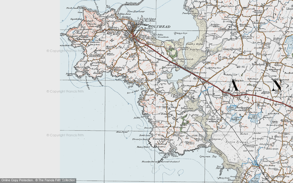 Old Map of Historic Map covering Bagnol in 1922