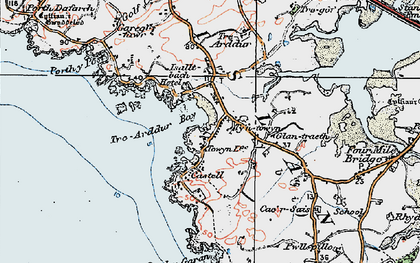 Old map of Bagnol in 1922