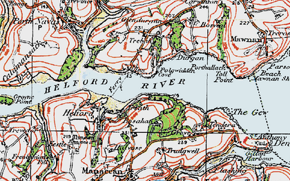 Old map of Treath in 1919