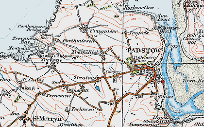 Old map of Treator in 1919