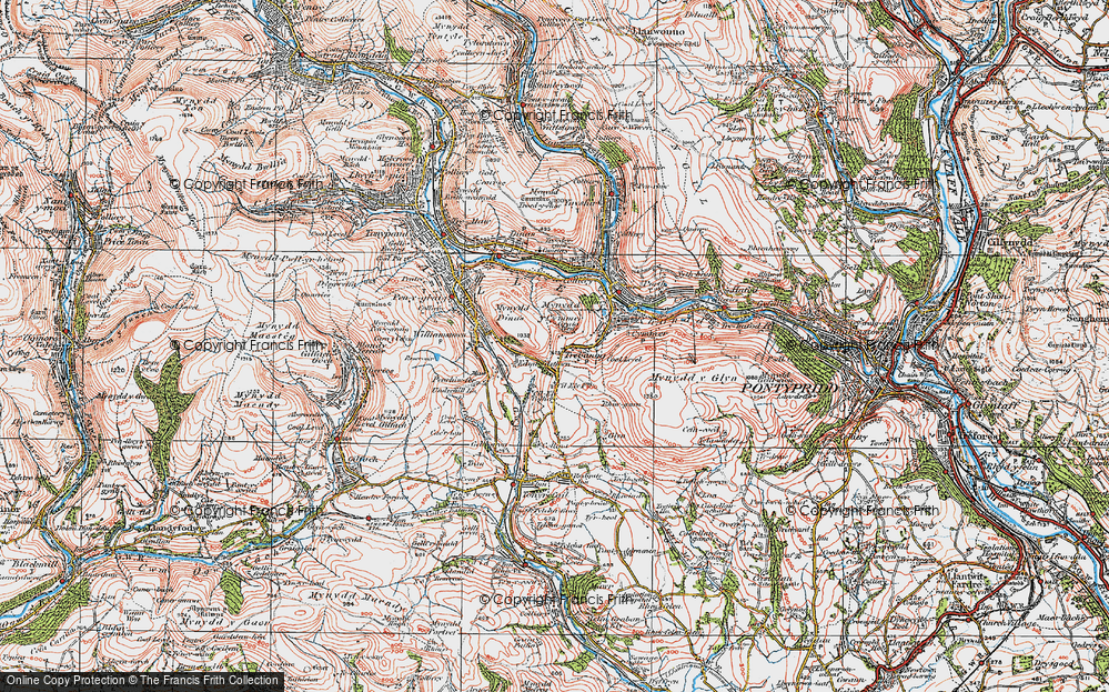 Old Map of Trebanog, 1922 in 1922