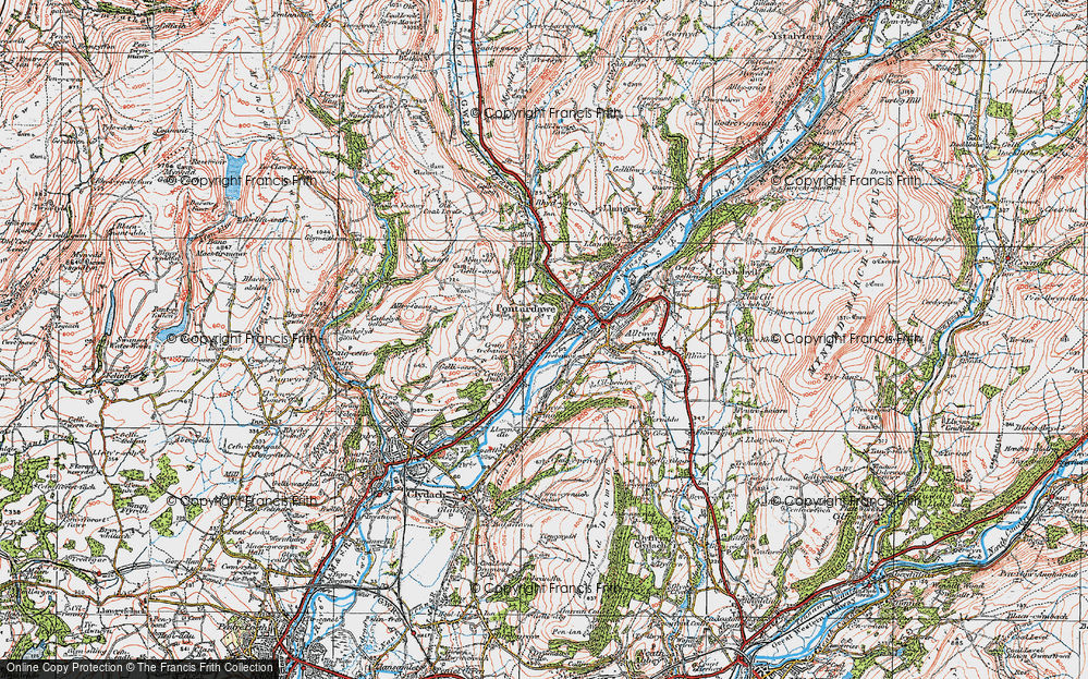 Old Map of Trebanos, 1923 in 1923
