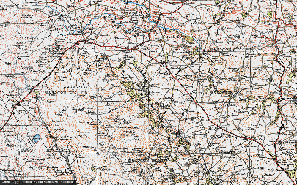 Old Map of Historic Map covering Allabury in 1919