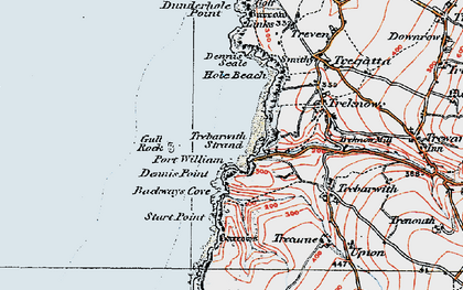 Old map of Backways Cove in 1919