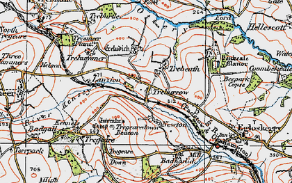 Old map of Trebeath in 1919