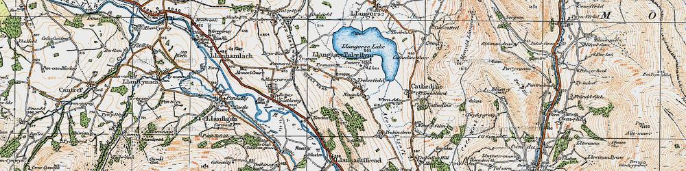 Old map of Allt y Esgair in 1919