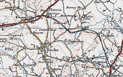 Old map of Trebilcock in 1919