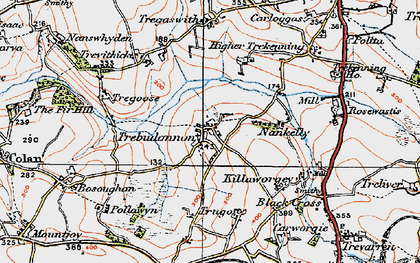 Old map of Trebudannon in 1919
