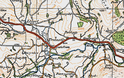 Old map of Ynys-Clydach in 1923