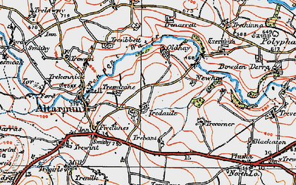 Old map of Tredaule in 1919