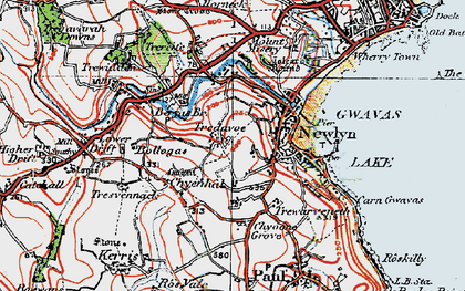 Old map of Tredavoe in 1919