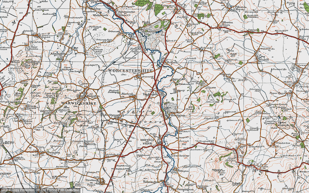 Old Map of Tredington, 1919 in 1919