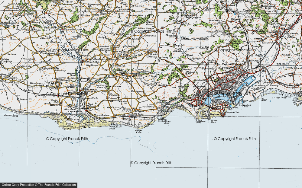 Old Map of Tredogan, 1922 in 1922