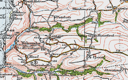 Old map of Linton in 1919
