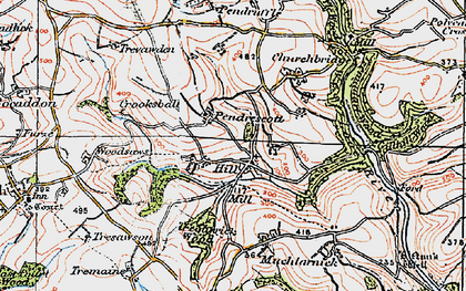Old map of Trefanny Hill in 1919