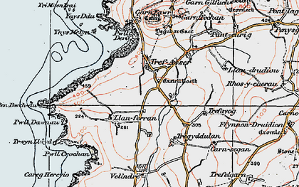 Old map of Ynys Melyn in 1923