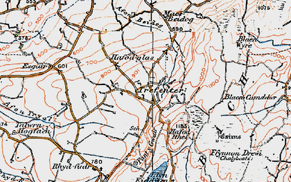 Old map of Afon Beidog in 1922