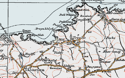 Old map of Trefin in 1922