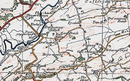 Old map of Y Gaer in 1921