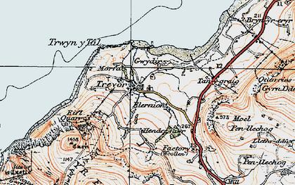 Old map of Trefor in 1922