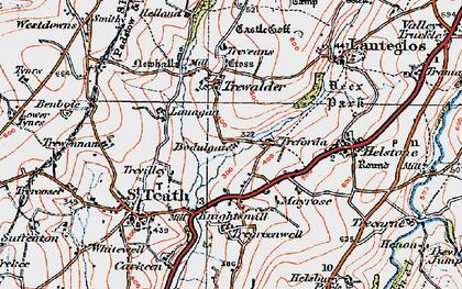 Old map of Treforda in 1919