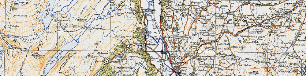 Old map of Trefriw in 1922