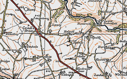 Old map of Trefrize in 1919