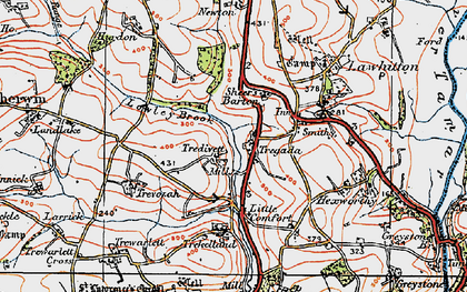 Old map of Tregada in 1919