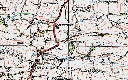 Old map of Tregamere in 1919